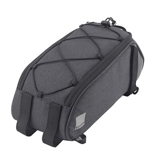 Bike Trunk Bag Bicycle Rear Rack Bag, Water Resistant Bike Commuter Carrier Trunk Bag with Shoulder Strap