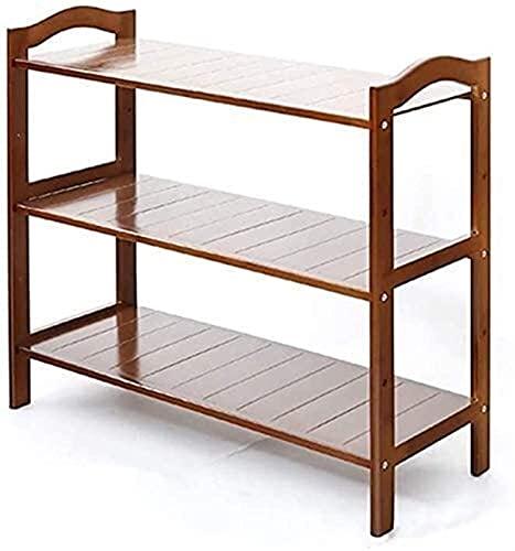 KCGNBQING Scarpe da Scarpe da Scarpe da Scarpe da Scarpe da Scarpe da Scarpe da Scarpe da Scarpe 3 Level Bamboo Shoe Container Ideale per Il corridoio Bagno Soggiorno e corridoio Rack (Size : 3Tier)