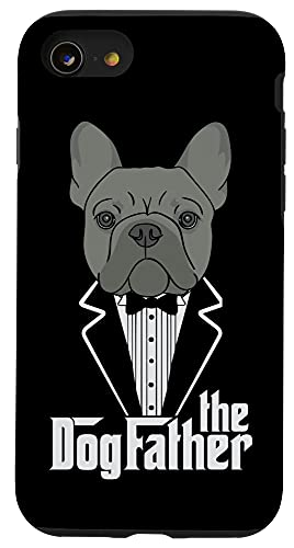 iPhone SE (2020) / 7 / 8 The Dogfather! French Bulldog Dad Frenchie Papa T-Shirt Gift Case