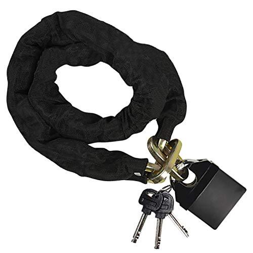 Kettenschloss - 118cm Hochsicherheits Kette mit Vorhängeschloss (7,5x6x2cm) und Schutzhülle für Fahrrad, Motorrad, Gebäude, Lager, Schuppen und Fahrzeuge