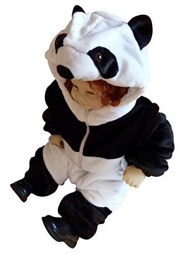 Ikumaal Panda-Kostüm F96 Gr. 74-80, für Babies Klein-Kinder Kind-er, Karneval Fasching