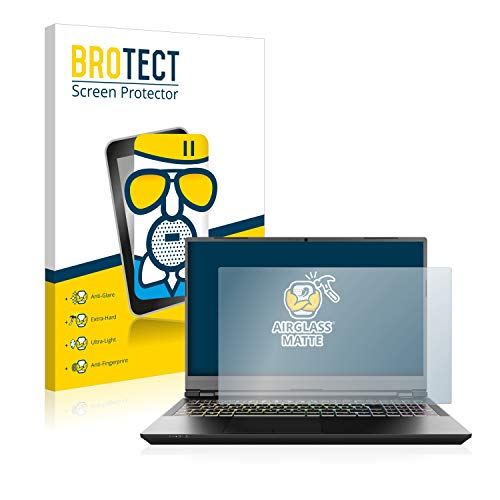 brotect Anti-Glare Glass Screen Protector compatible with Schenker XMG Pro 15' - 9H Glass Protector Matte