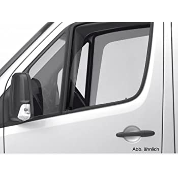 NISSAN NV400 VAN 2010+ RENAULT MASTER Set Of 2 Wind Deflectors IN-CHANNEL Type Compatible with VAUXHALL//OPEL MOVANO ONWARD Acrylic Glass Side Visors Window Deflectors