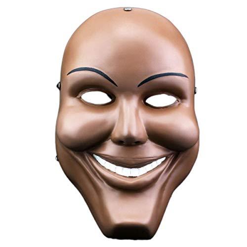 Máscara de Purga de plástico Máscara de Halloween Máscara de Fiesta de Terror Fancy Kiss Me God Decoración Sonriente Vestir Fiesta Bar Suministros Disfraces