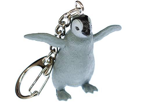 Miniblings Königspinguin Pinguin Antarktis Schlüsselanhänger - Handmade Modeschmuck I Anhänger Schlüsselring Schlüsselband Keyring - Königspinguin Pinguin Antarktis