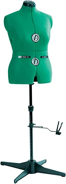 Dritz 20421 Sew You Dressform With Tri Pod Stand Adjustable Up To 63 Shoulder Height Medium Opal Green
