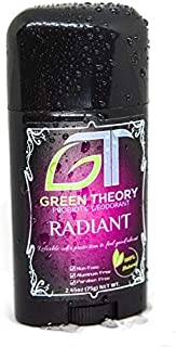 Green Theory Natural Probiotic Deodorant - Radiant - Womens | Aluminum-Free, Non-Toxic, Rose Scented | Women's Evening Wear Collection - 2.65 Ounce Solid Stick
