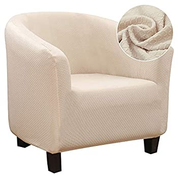 SearchI Club Chair Slipcover Stretch Jacquard Armchair Covers 1-Piece Club Tub Chair Covers Sofa Cover Couch Furniture Protector Cover Jacquard Spandex Couch Covers for Living Room