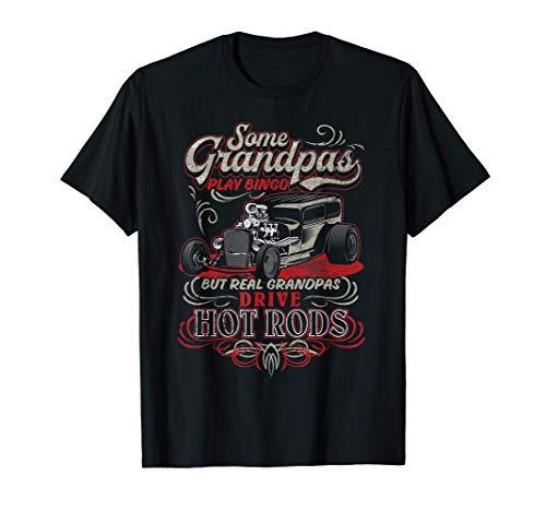Vintage Hot Rod Grandpa Gift T-Shir…