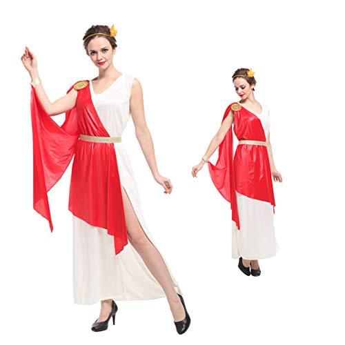 GBYAY Mitología Mujer Halloween Dama Romana Reina Cosplay mostrando Tela Carnaval Vestido de Mascarada