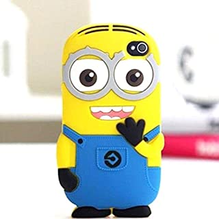 iTitan Yellow Minion With Two Eyes {Minion Character} Soft and Smooth Silicone Cute 3D Fitted Bumper Gel Case for iPod 4 (4G) 4th Generation iTouch by Apple