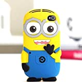 iTitan Yellow Minion With Two Eyes {Minion Character} Soft and Smooth Silicone Cute 3D Fitted Bumper Gel Case for iPod 4 (4G) 4th Generation iTouch by Apple 'Durable and Slim Flexible Fashion Cover with Amazing and Creative Cartoon Design'