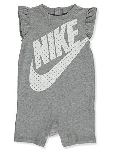 Nike Baby Girls' Romper - Gray, 12 Months