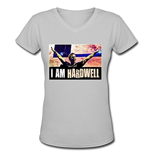 Damen's I AM Hardwell V-Neck T-Shirts Large