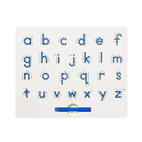 Toyvian Alphabet Verfolgung von a bis Z Magnetplatte Magnetkugeln Tablette Buchstaben Schreiben Lernen Vorschule Lernspielzeug für Jungen Mädchen (Kleinbuchstaben)