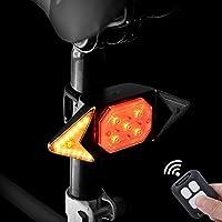 ✅ REMOTE CONTROL TURN LIGHT: Einfach zu installieren. Leichtes und langlebiges Fahrradrücklicht, das an allen Fahrrädern, Kinderfahrrädern und Erwachsenenfahrrädern montiert werden kann. Es kann auch als Helmbeleuchtung, Rucksackbeleuchtung, Warnleuc...