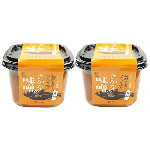 渉水産 国産 秋田 男鹿 さかなの味噌 マダラ 真鱈 天然醸造 無添加 470g 2個