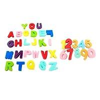 Milageto 36Kidsペイントスポンジアルファベット番号ペイントブラシスタンプ幼児絵画おもちゃツール