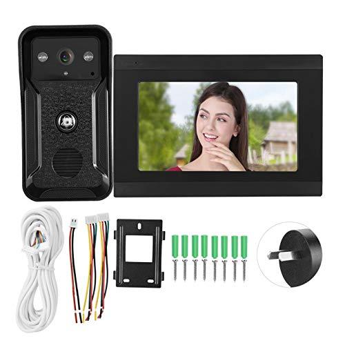 7in 1080P HD con Cable WiFi Video Timbre App Telefono de visión Nocturna remota 100-240V(Regulaciones australianas (110-240V))