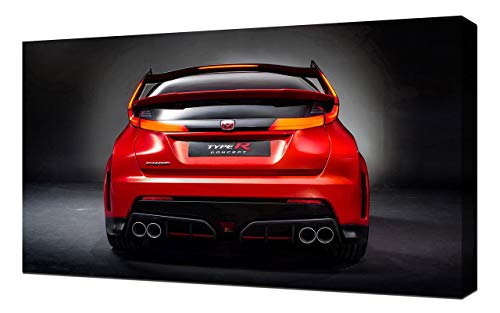 Lilarama 2014-Honda-Civic-Type-R-Concept-V5-1080 - Art Leinwandbild - Kunstdrucke - Gemälde Wandbilder