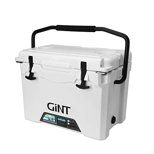 GiNT 25 Quart Portable Cooler, Ice Chest Rotomolded Cooler with Bottle Opener & Durable Handle, White