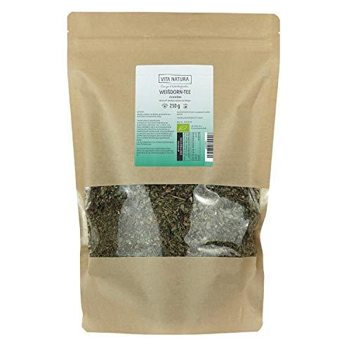Vita Natura Weißdorn Tee, Weißdornblätter mit Blüten Bio, 1er Pack (1 x 250 g)