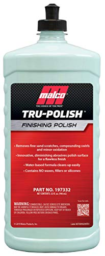 Malco Tru -Polish - All in One Car Polish and Swirl Remover / For Vehicle Paint Correction, Detailing and Buffing / 32 oz. (197332)