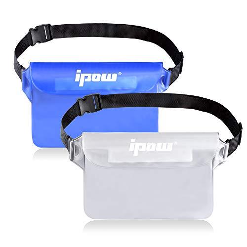 IPOW [2 PCS] Riñonera Impermeable acuatica iPhone