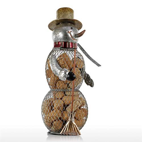 Hbao Navidad muñeco de Nieve contenedor de Corcho artesanías decoración del hogar Manualidades prácticas Adornos de Navidad Decoraciones
