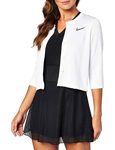 Nike Damen W Nkct Cardigan Ln Jacket, Weiß/Schwarz, XS
