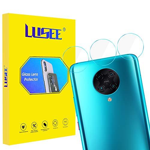Lusee 3 Piezas Cristal Templado Lente Cámara para Redmi K30 Pro Alta Definición Ultra Clara 2.5D Protector Cámara Trasera Lente Película de Pantalla