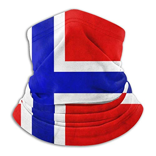 JONINOT Scaldacollo in pile con bandiera norvegese Scaldacollo con intrappolamento termico a prova di sole Tubo per scaldacollo morbido passamontagna elastico Mezza maschera