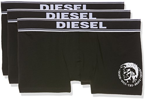 Diesel Herren Boxershorts 00SAB2 (3er Pack), Schwarz (Black 01), M