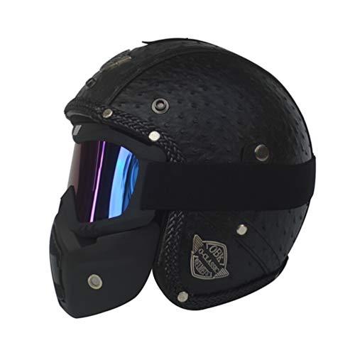 Casco de Moto Halley Retro Prince 3/4, Casco de Moto de