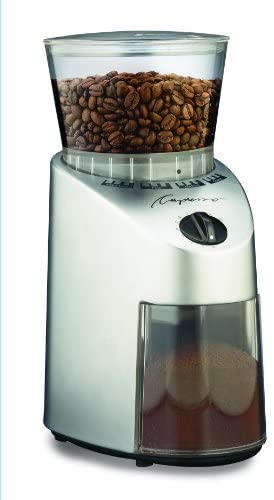 Capresso 560Infinity Conical Burr Grinder, Brushed Silver, 8.5-Ounce