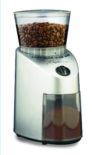 Capresso 560Infinity Conical Burr Grinder, Brushed Silver,...