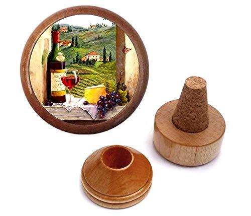 Wine Stopper Gift Set Red White Napa Valley Merlot Shiraz Pinot Zinfandel