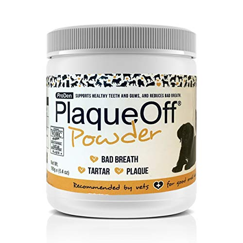ProDen PlaqueOff Powder Supports Normal, Healthy Teeth, Gums, and Breath Odor in Pets 180 g