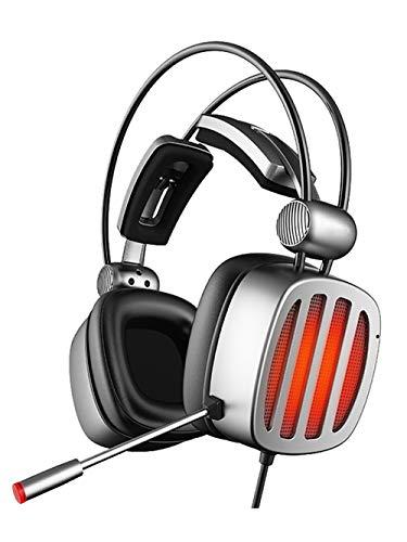 LHYXRJ Casque antibruit Actif, Ordinateur de Bureau Esports Gaming Universel monté sur la tête, Casque à 1 Canal avec Microphone