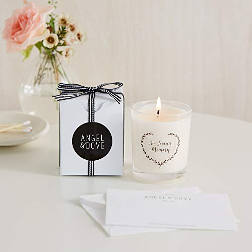 ANGEL & DOVE 'in Loving Memory' Gift Boxed Votive Candle with Bag & Card - Memorial, Remembrance, Sympathy Gift