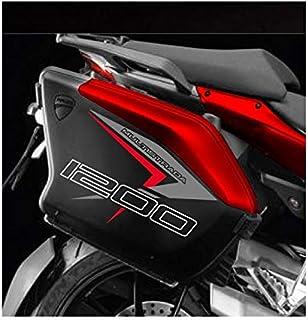 KIT 2 Sticker Cases SEITENFÄLLE Ducati MULTISTRADA 1200 2010 2014 (Red Style)