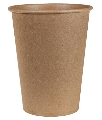 Chal–Vaso de cartón en color kraft, 10unidades
