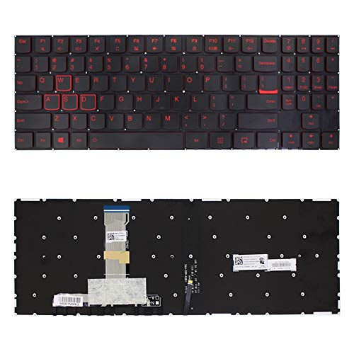 Gaming-Tastatur US-Tastatur mit Hintergrundbeleuchtung for Lenovo Y520 Legion Y520-15IKB Y720 Y720-15IKB R720 R720-15IKB (schwarz) ` ( Color : Black )