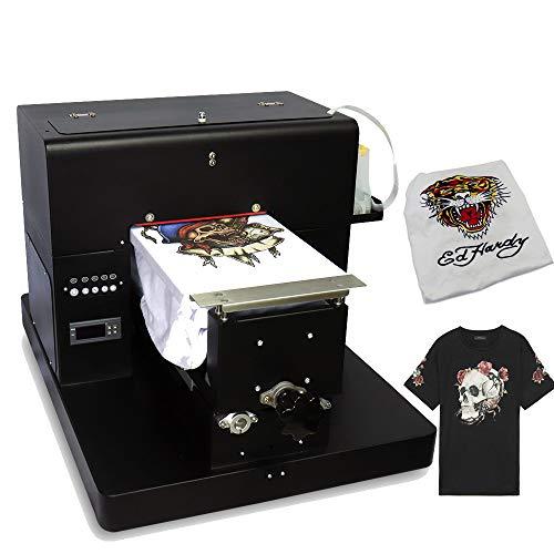 A4 Impresora Plana Multicolor Multifuncional DTG la Camiseta de la Impresora de Oscuridad y luz impresión de la Ropa con el Titular de la Camiseta