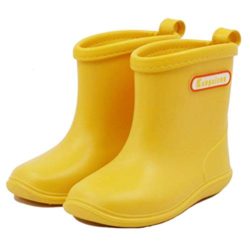 Toddler Kids Wellies Wellingtons Lightweight Girls Boys Waterproof Shoes Rain Boots for Toddler, Boys and Girls