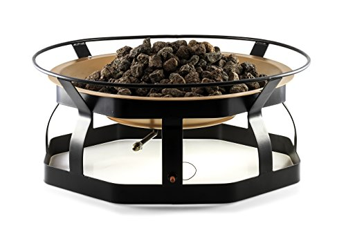 Camco 51200 29-Inch Portable Deluxe Outdoor Fire Pit, 65,000 BTU's, Includes 10 Foot Propane Hose
