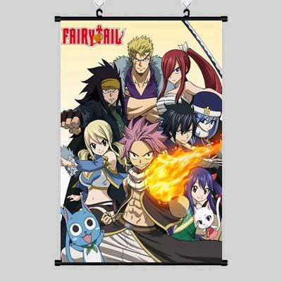 lmslmsst Cartel De Lienzo Colgante De Desplazamiento De Scroll Poster Anime Cartoon Fairy Tail,50(W) x75(H) cm