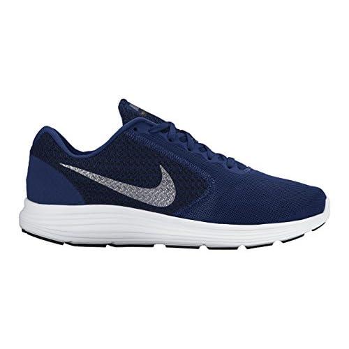 Nike Revolution 3, Scarpe da Corsa Uomo, Blu (Deep Royal Blue/Metallic Clear Grey-Black-White 400), 49 EU