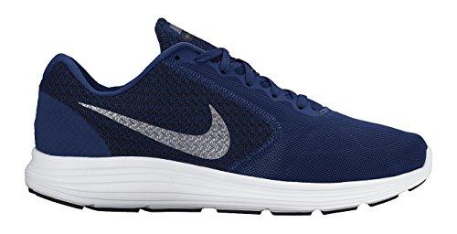 Nike Revolution 3, Zapatillas de Running Hombre, Azul/Gris/