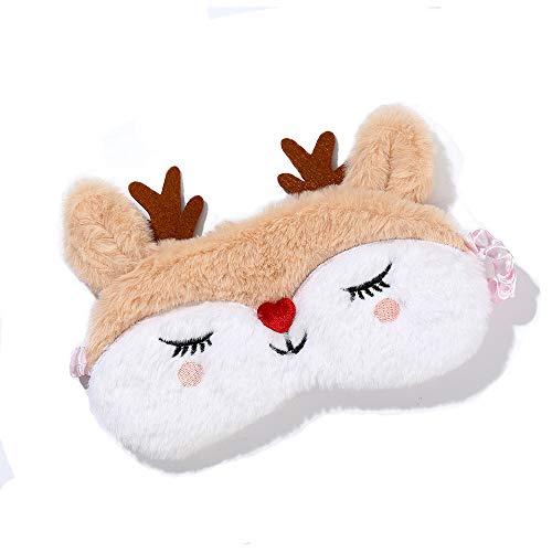 Dodheah Antifaz para Dormir para Niñas Unicornio Máscara de Sueño Suave Sombra para Dormir para Mujeres y Niñas Viajar Descansar Alce